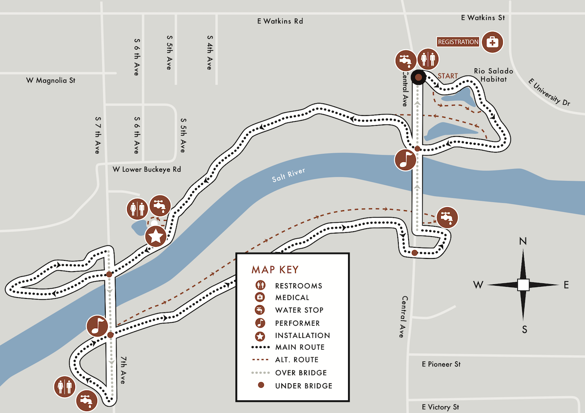 theWALK Route Map